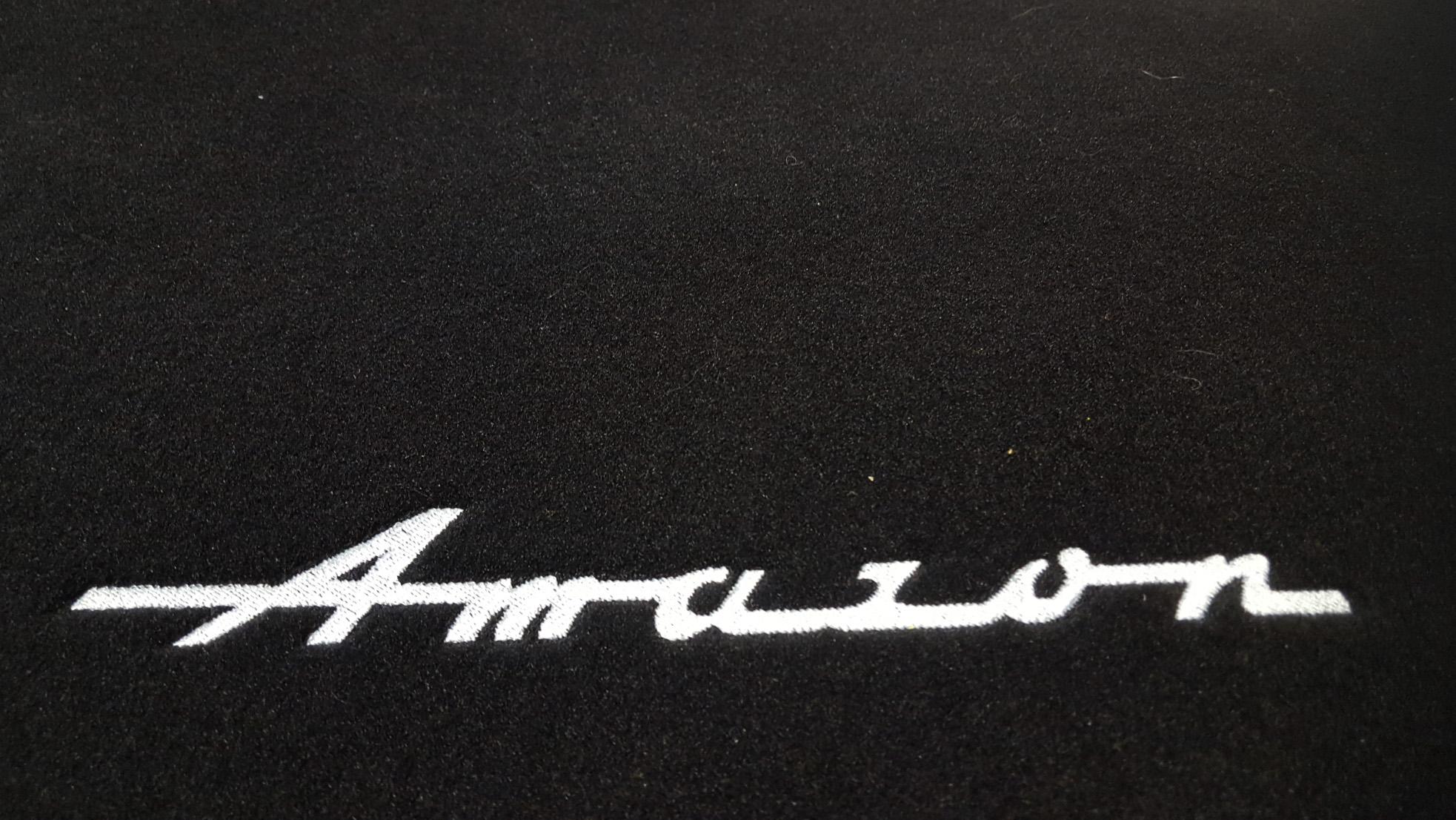 Mattenset Zwart Velours met AMAZON borduring