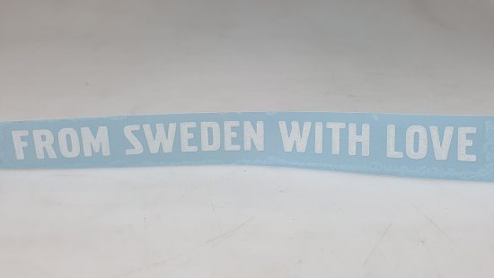 "Sticker ""From Sweden With Love""  Recht"