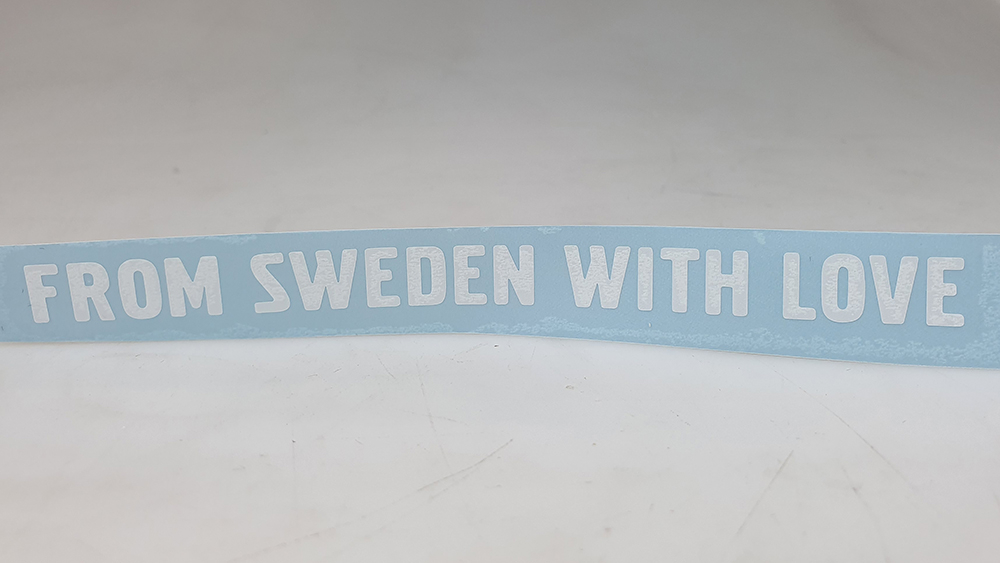 "Sticker ""From Sweden With Love""  Recht"