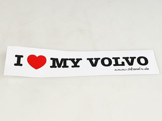 "Sticker ""I Love My Volvo"" wit."