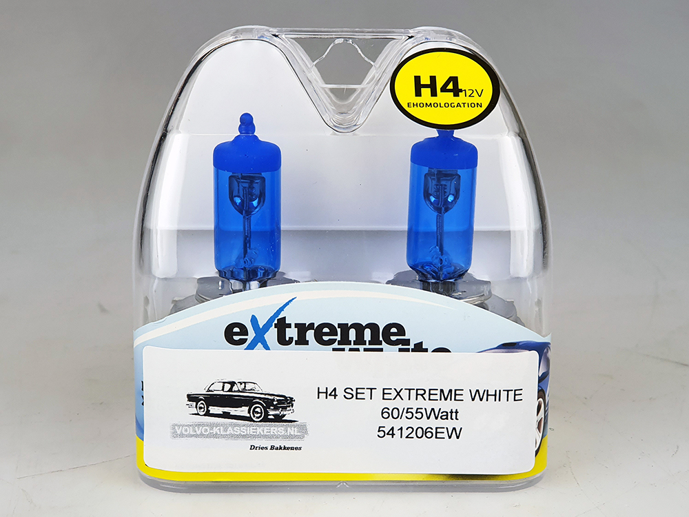 H4 lamp SET EXTREME WHITE!