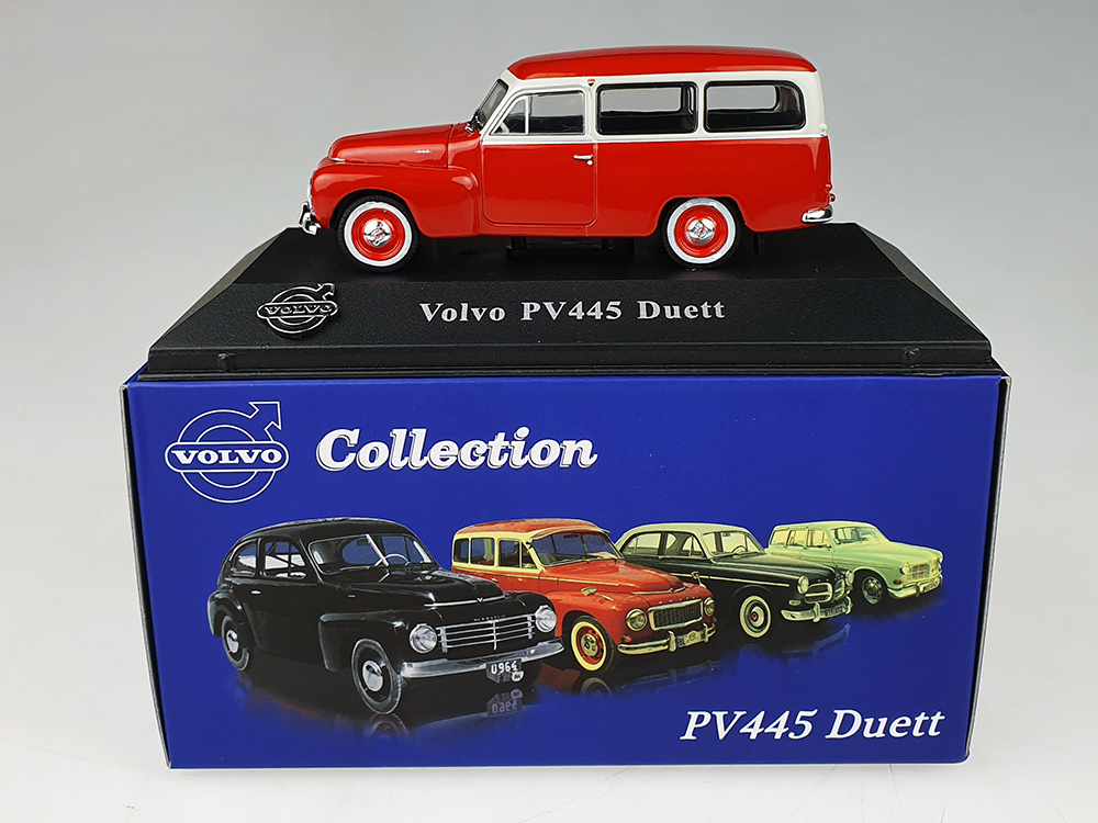 Atlas model nr 04 Volvo Duett Rood / Wit