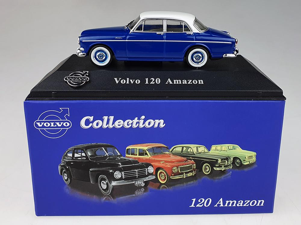 Atlas model nr 02 Volvo Amazon Blauw / Wit