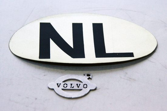 NL sticker reflecterend wit