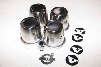 GT velg naafdop set (RVS) + wielmoer set.