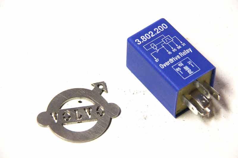 Overdrive relais BLAUW