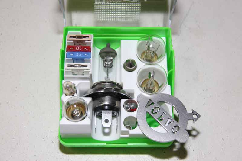 Set reservelampjes en zekeringen H4