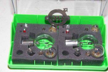 Vervangingsset Gloeilampen 6 Volt. Bajonet