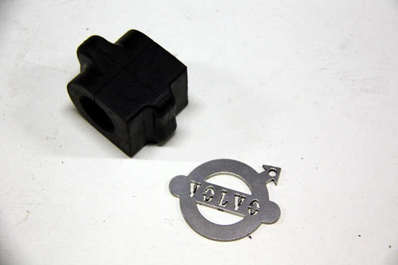 Stabilisatorstang rubber, 21 mm.