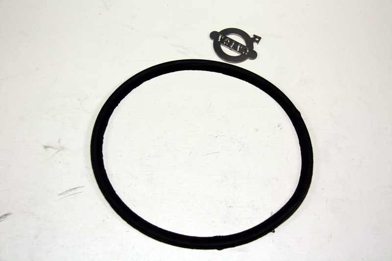 Koplamp rubber in chrome ring