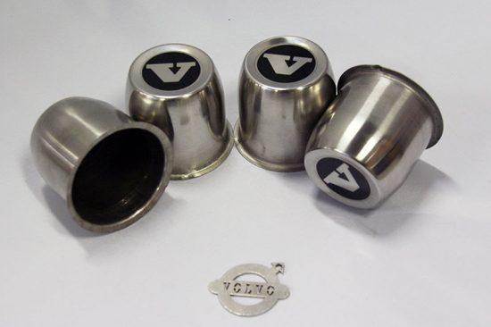 GT velg naafdop (RVS) set 4 stuks