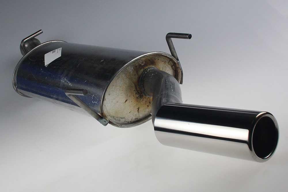Einddemper met chrome sierstuk SAAB