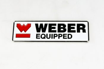 "Badge "" WEBER Equipped"""