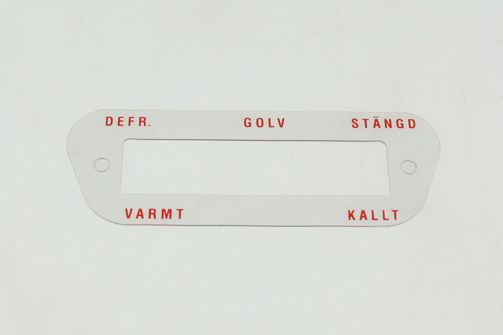 Tekstplaat kachelbediening KATTERUG / DUETT Zweeds