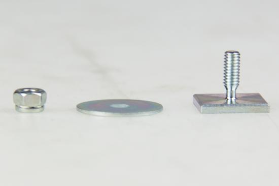 Schroefclip sierlijst 16 x 16 mm. compleet