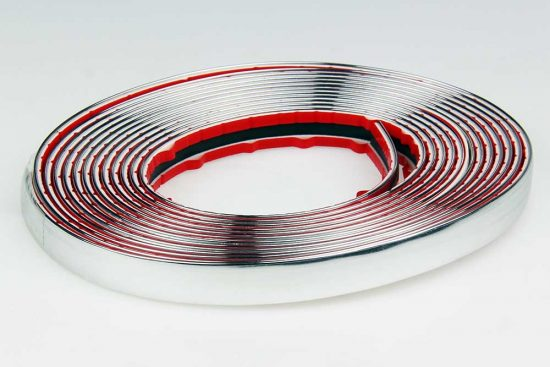 Bumperstrip chrome SAAB universeel