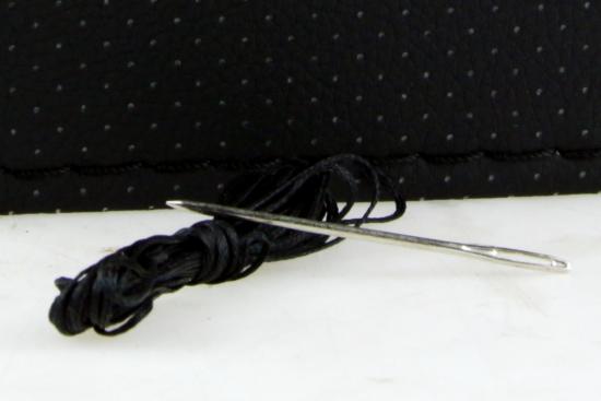 Stuurwielhoes kunstleder. 38 cm stuur