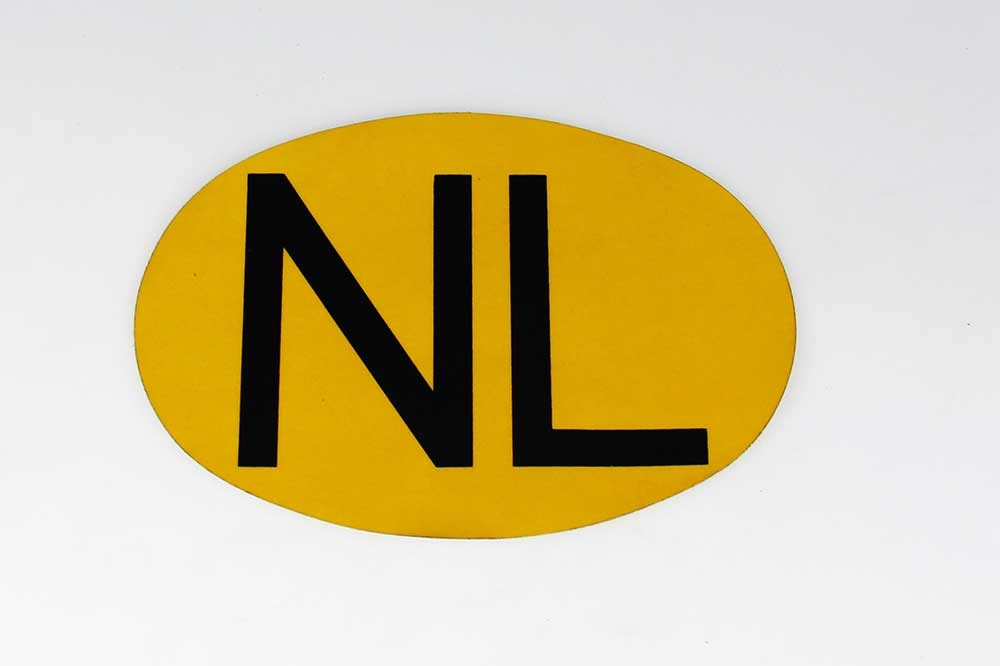 NL sticker GEEL reflecterend