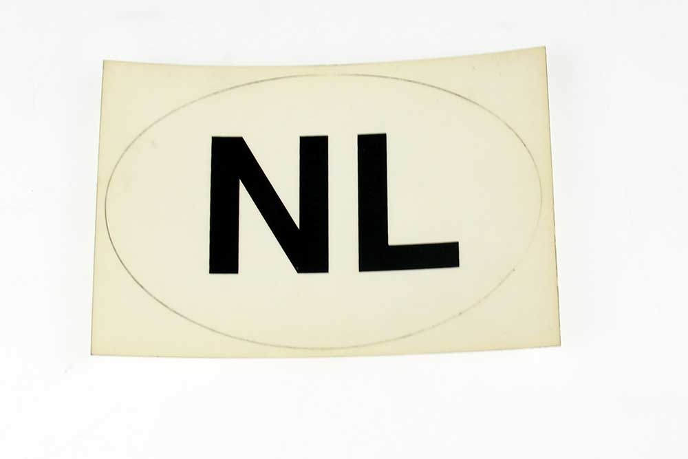 NL sticker OVAAL transparant