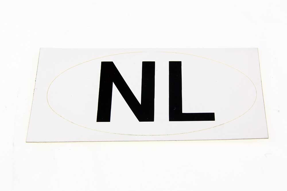 NL sticker Wit 80 x 47 OVAAL