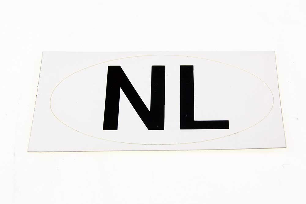 NL sticker Wit 80 x 47 OVAAL