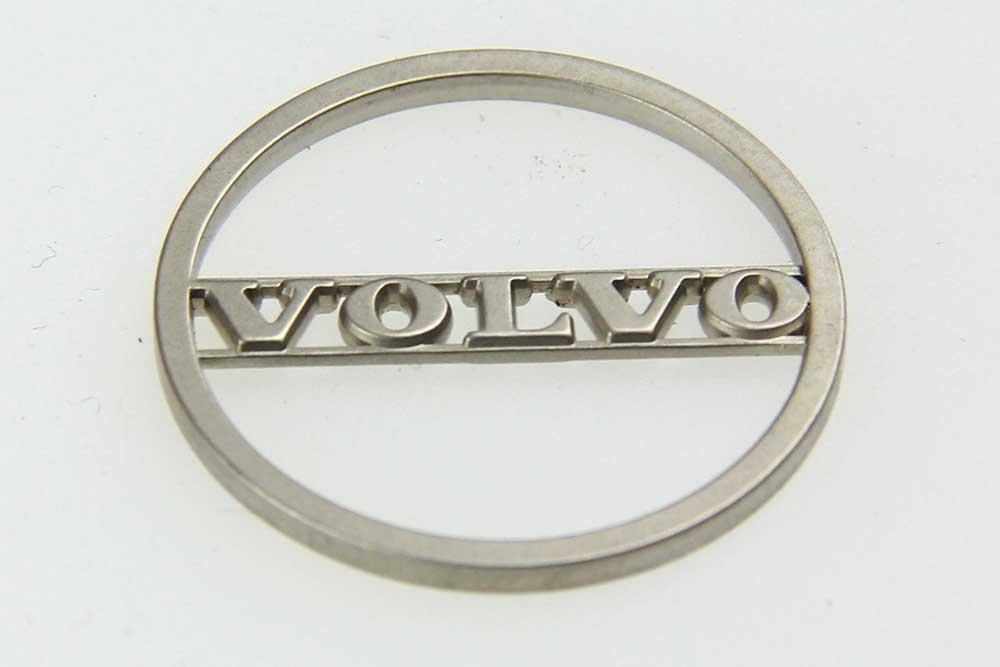 """Sleutelhanger """"VOLVO"""" met winkelwagen munt."""